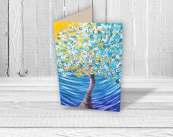 Night Breezes Greeting Card - Birthday Card, Wedding Card, New Home Card, Art Card, Collectible A5 Card