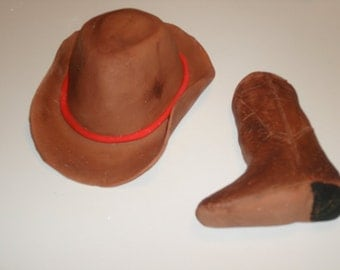 Gumpaste Cowboy Hat and/or Cowboy Boot Cake.  Topper
