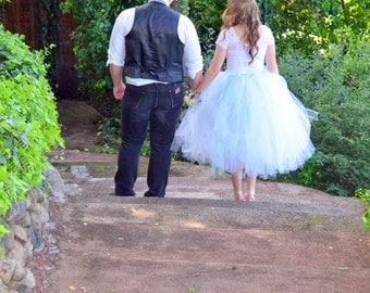 Bridal Dress - Cocktail Length Tutu -  PROM Tutu - Wedding Tutu - Tea Length Tutu - Adult tutu - Bridesmaid tutu - Wedding party
