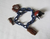 Vintage Boys Sports Charm Bracelet - Plastic