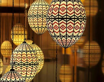 Moroccan Lanterns Photo Mediterranean home decor Chevron pattern celebrity gifting Modern 8x10 Red Black Golden Wall decor under 50