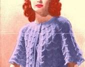 A BEST Vintage Ripple Knit Bed Jacket 118 PDF Digital Knit Pattern