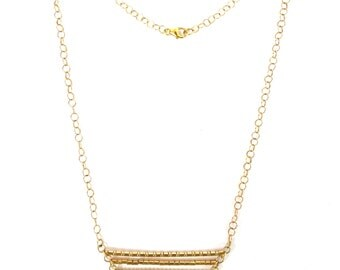 Trapeze bars necklace- gold