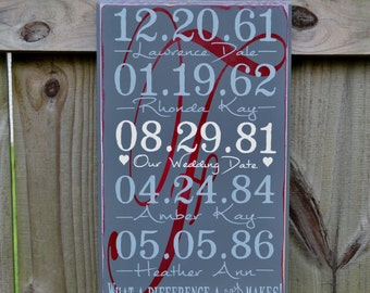 Important Date Wood Sign - Anniversary Gift - Wood Anniversary - 5th Anniversary - Personalized Wedding Gift - Housewarming Gift