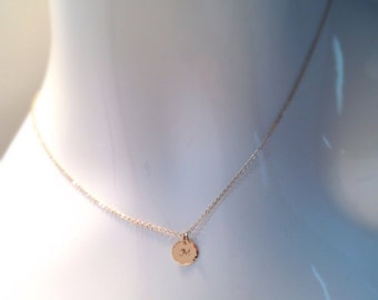 Initial necklace gold filled