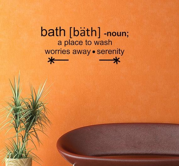 Bath Definition Words Vinyl Wall Decal Quotes Bathroom Sticker
