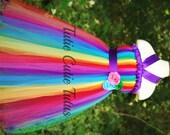 Rainbow Dash Inspired Tutu Dress