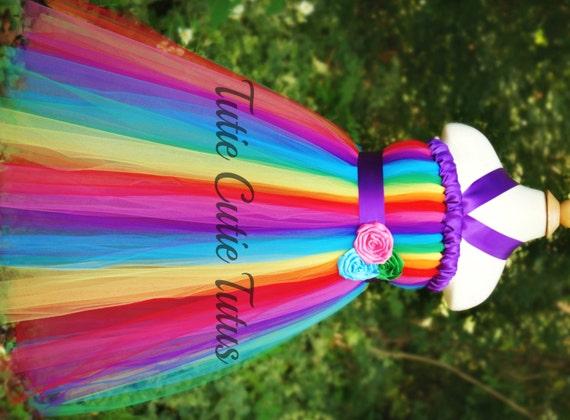 Rainbow Dash Candyland Inspired Tutu Dress
