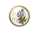 Custom AA 12 Step Coin/Chip/Token or Special Event/Celebration of Life Medallion Chinese Peacock Medallion
