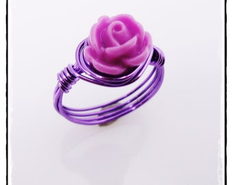 Little Girls Ring / Girls Jewelry / Rose Ring