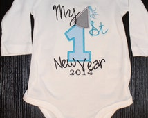 Baby Boys New Years Onesie or Shirt 2016 /Baby boy First NEW YEAR'S Toddler boy New Year's Eve Party Outfit/ Dress up