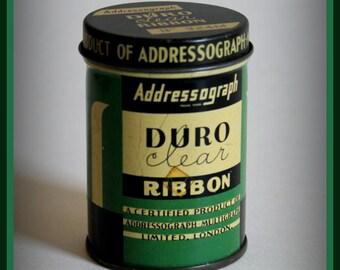"Vintage tin box ""Addressograph"".  Publicity tin box 1940s / 1950s."