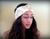 Cream colored Lace Hair Turban Headband