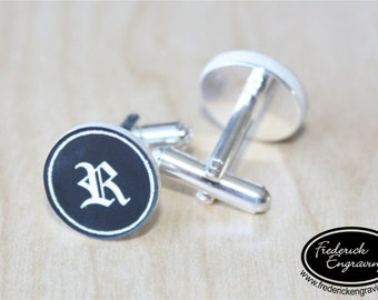 Custom Cuff Links - Personalized Engraved Cufflinks - Anniversary Gift, Groomsman Gift, Wedding Party Gifts - Initial Cuff Links - CF-20