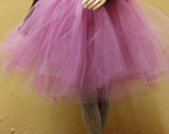 BJD tutu skirt for MSD - plum purple