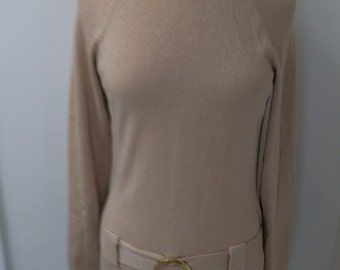 Retro/Throwback to the 60's/Mod/ Hip Hugger Turtle Neck Knit Dress Size 8