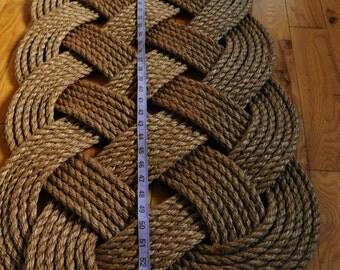 Larger Rope Rug - Nautical Decor - Nautical Rope Rug - Patio Door Runner Mat - (57 x 19)