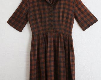 1950s Rayon Handmade Dress