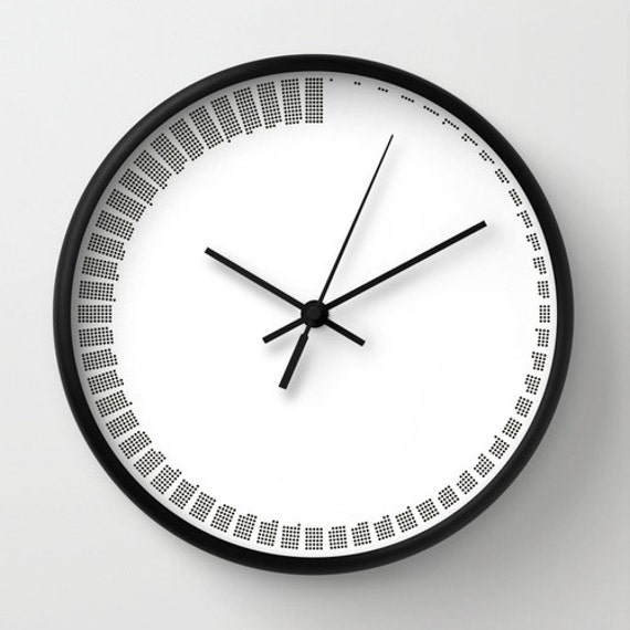 Simple Modern Wall Clock Black And White Minimal Sixty