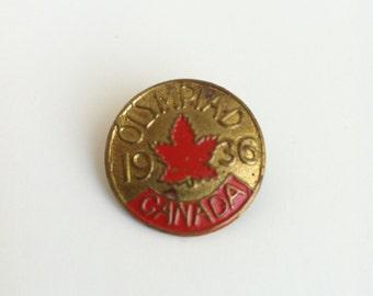 1936 Canada Olympic Pin