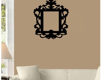"""Ornate Frame Wall Decal with large 8x10 opening.(19"""" X 21"""")-"""