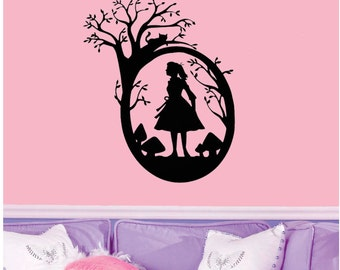 Alice in Wonderland Wall Decal 18x22