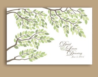 Wedding guestbook Tree Poster - Wedding poster - Wedding guest book alternative - Wedding tree - Unique Wedding poster - Wedding Gift idea