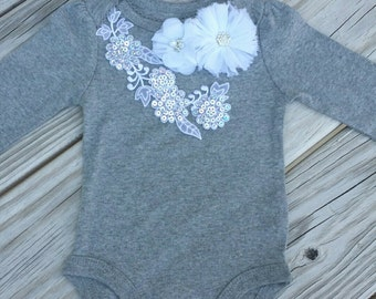 Baby Girl Clothes Newborn Outfit Girl Gowing Home Outfit Take Home Outfit Bodysuit Baby Girl Creeper