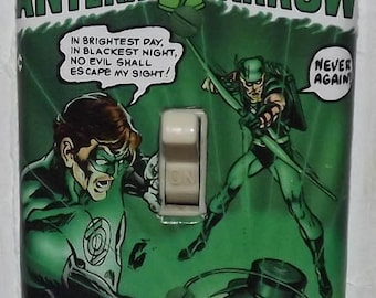 Green Lantern Light Switch Cover Plate - Green Lantern 76 Green Arrow