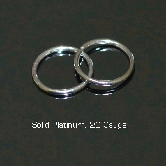 Small Nose Ring - Solid Platinum Nose Stud - Nose Hoop - Cartilage Earring - Tragus Earring - Daith Ring - Helix Hoop - Nose Piercing 20g