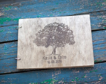 Wedding Guest book, Rustic Wedding Guestbook, Guest Book Personalized, Customized, Wedding Tree
