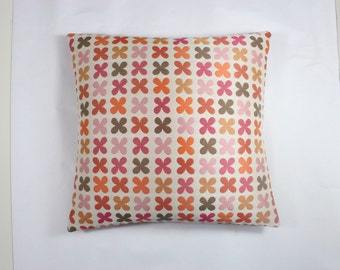 "Quatrefoil by Alexander Girard, 1954  Pink Maharam Fabric - Pillow 17"" x 17"" feather insert included"
