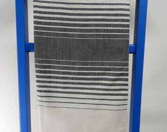 schwarz streifen bambus handtuch pishtimal f r hamam bad. Black Bedroom Furniture Sets. Home Design Ideas