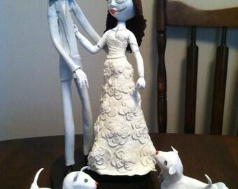 Jack Skellington And Sally Nightmare Before Christmas Wedding Cake Topper