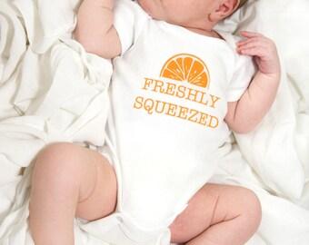 Baby onesie FRESHLY SQUEEZED