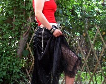 Goth Shot - Festival Skirt - Gothic Skirt - Gypsy Skirt - Pixie Skirt - Burning man