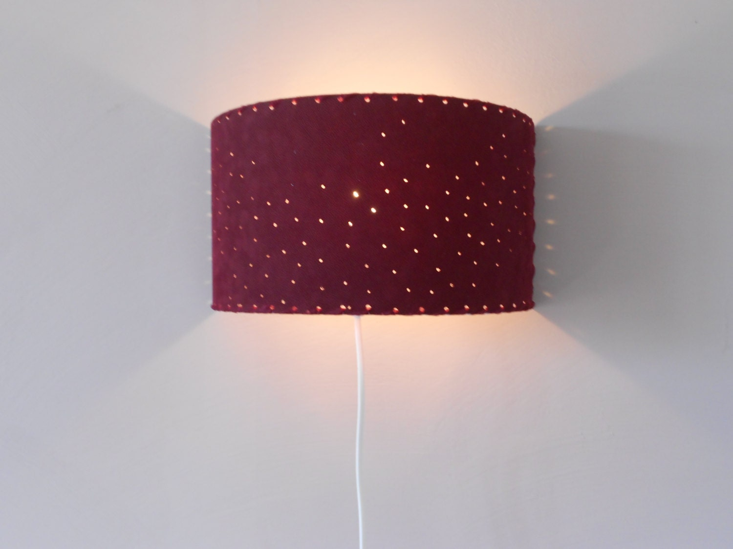 Half Circle Wall Lights : Wall sconce light Wall lighting half-circle burgundy by EclatFou