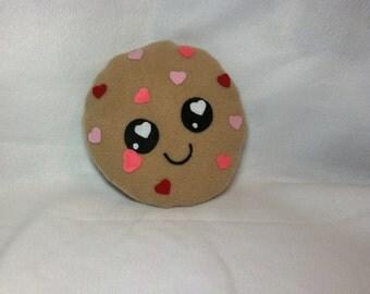 Heart Chip Cookie Plush, Valentine's Day Plush, Kawaii