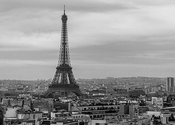 Urbain eiffel tour eiffel paris noir et blanc paysage - Sejour noir et blanc ...