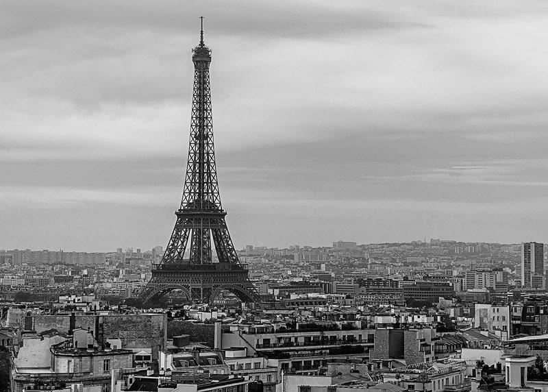 Urbain eiffel tour eiffel paris noir et blanc paysage for Paris paysage