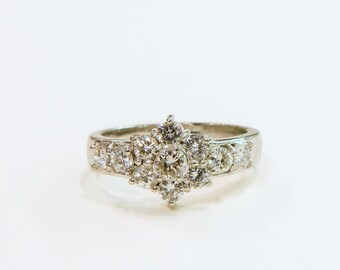 The perfect ring for all occasions platinum and  diamonds