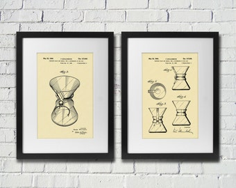 1944 Coffee Chemex Patent Prints / Great Christmas Gift