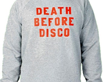 Death before Disco Sweat Shirt - Stripes Shirt NEW