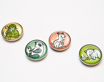 BABY ANIMALS magnet set fridge magnets - baby shower favor baby shower gift cute Mothers Day Gift