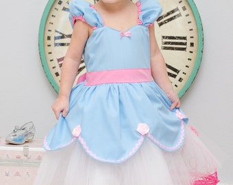 CINDERELLA dress blue  tutu dress Princess dress from Lover Dovers handmade costume Practical princess dress