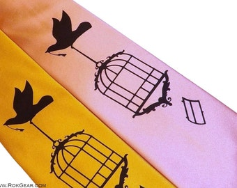 Bird cage necktie by RokGear