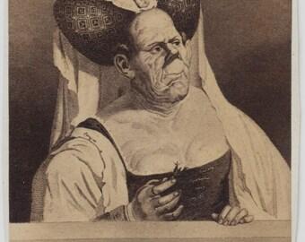 1860s - 1870s Antique CDV. Mr. Ann Boleyn aka Plastic Surgery Gone Horribly Wrong