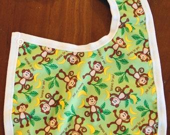 Waterproof Monkeys Bib