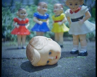 Doll Photography, Vintage Dolls, Colorful Art Print, Diana Photography, Doll Still Life, Weird Art, Weird Still Life