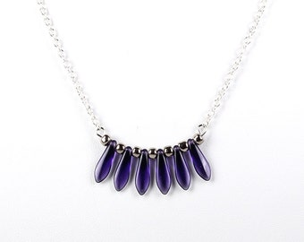 Nightshade Bar Pendant Necklace Carnival Collection